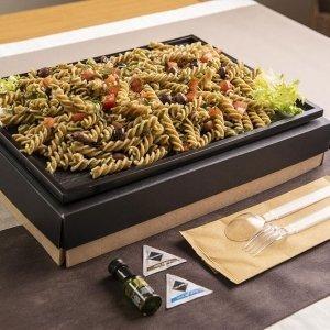 Catering primo fusilli integrali bio pomodoro olive taggiasche 02