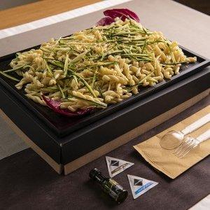Catering primo riccioli limone zucchine pinoli 02